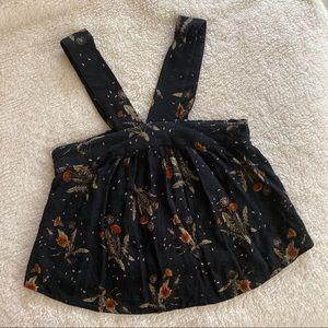 BP ✨ Nordstrom black floral crop top